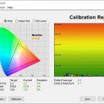 Test culori dupa calibrare Huawei MateBook X 2020