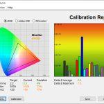 Test culori inainte calibrare mod Cold Huawei MateBook X 2020