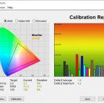 Test culori inainte calibrare mod Default Huawei MateBook X 2020