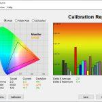 Test culori inainte calibrare mod Warm Huawei MateBook X 2020