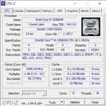 Info CPU-Z MSI GE66 Raider 10SGS