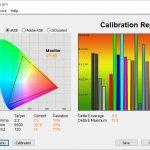 Test culori mod ISF Expert Camera intunecata TV LG OLED48CX6LB
