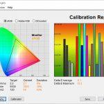 Test culori mod ISF Expert Camera luminoasa TV LG OLED48CX6LB