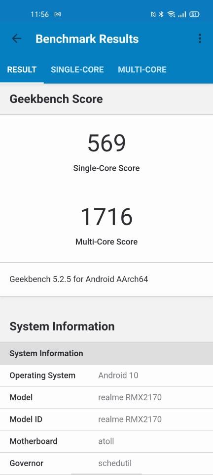 Teste benchmark realme 7 Pro