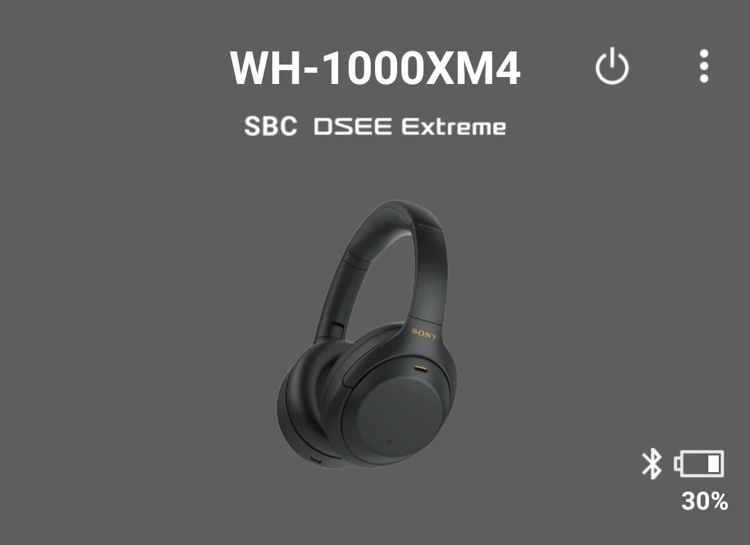 Autonomie casti Sony WH-1000XM4