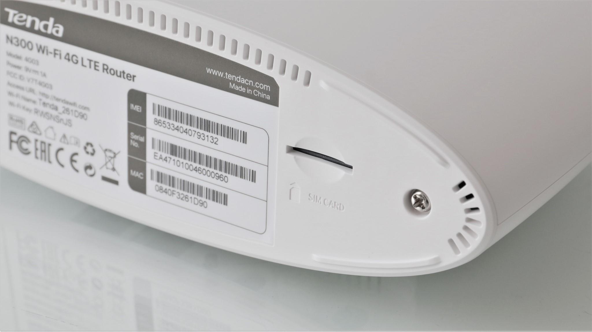 Router Wi-Fi 4G LTE Tenda 4G03