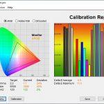 Test culori ecran mod Scenery ASUS ROG Strix G713Q