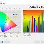 Test culori ecran mod Vivid ASUS ROG Strix G713Q