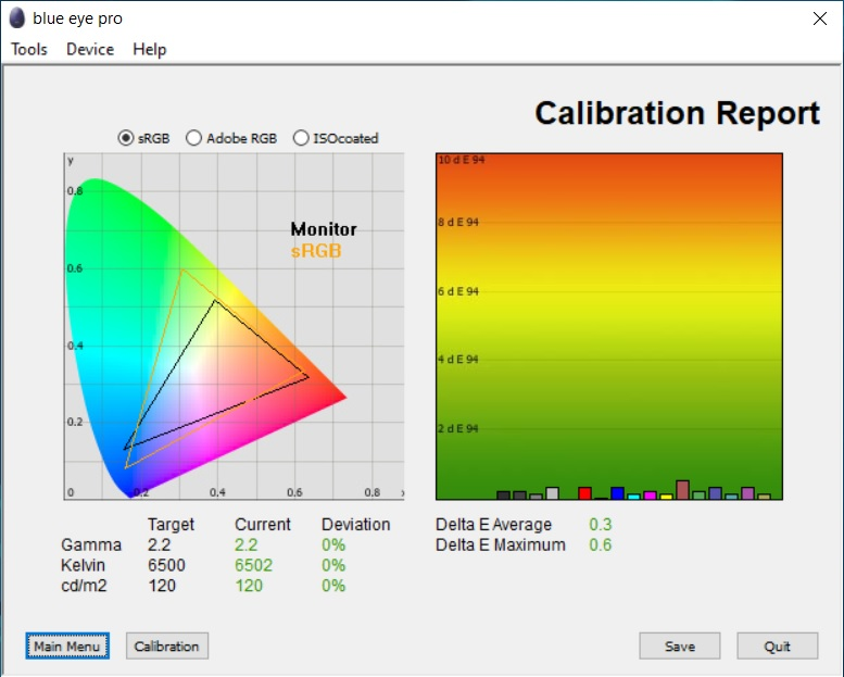 Test culori dupa calibrare ecran notebook Allview AllBook I
