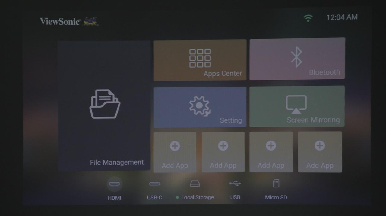 Interfata proiector portabil smart ViewSonic M2e