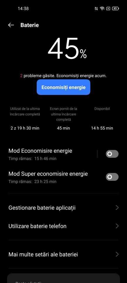 Autonomie realme GT 5G