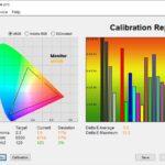 Test culori mod Cinema ecran laptop ASUS ROG Strix G15 G513QY