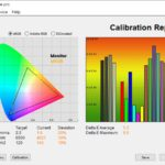 Test culori mod Racing ecran laptop ASUS ROG Strix G15 G513QY